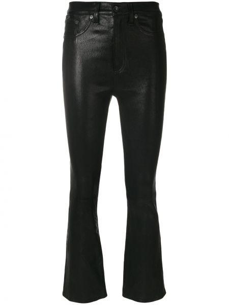 Кожаные брюки - черные Rag & Bone/jean