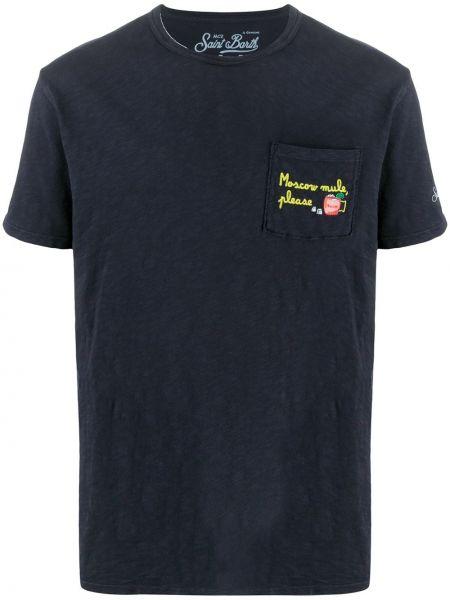 Koszula krótkie z krótkim rękawem z kieszeniami z haftem Mc2 Saint Barth