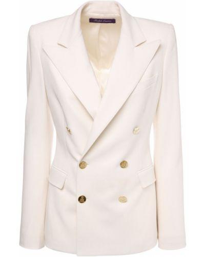 Шерстяная бежевая куртка с подкладкой Ralph Lauren Collection