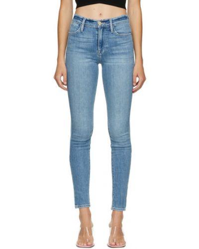 Зауженные розовые джинсы-скинни с вышивкой стрейч Frame