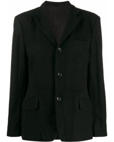 Однобортный черный приталенный классический пиджак Junya Watanabe