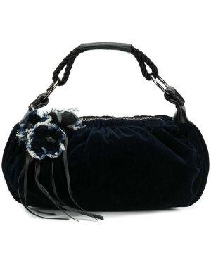 Синяя кожаная сумка Miu Miu Pre-owned