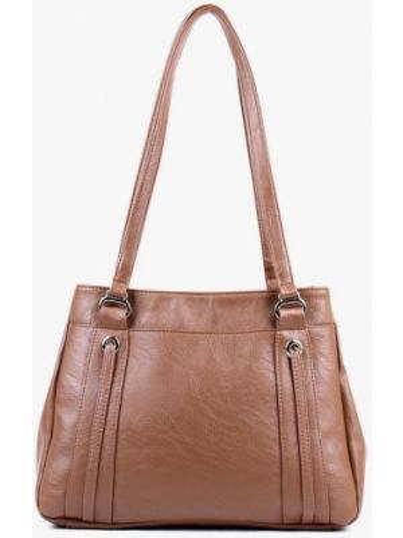 Кожаная сумка шоппер весенний медведково