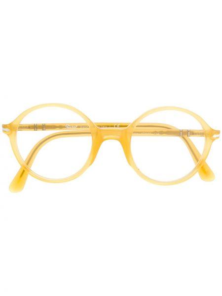 Желтые очки круглые Persol