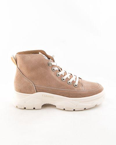Коричневые кожаные ботинки Prima D'arte