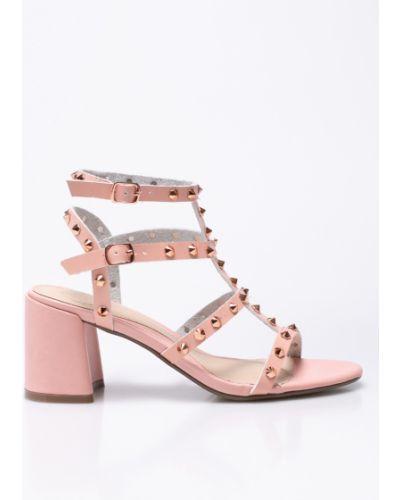 Туфли на каблуке с шипами розовый Missguided