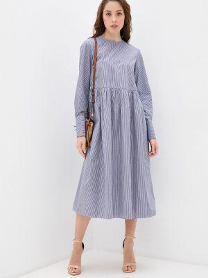 Прямое синее платье Selected Femme
