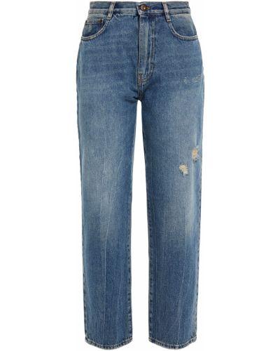Прямые синие джинсы с поясом Mcq Alexander Mcqueen