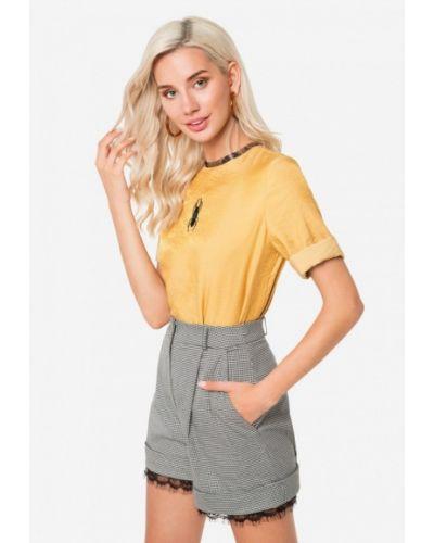 Блузка с коротким рукавом золотой осенняя Solou