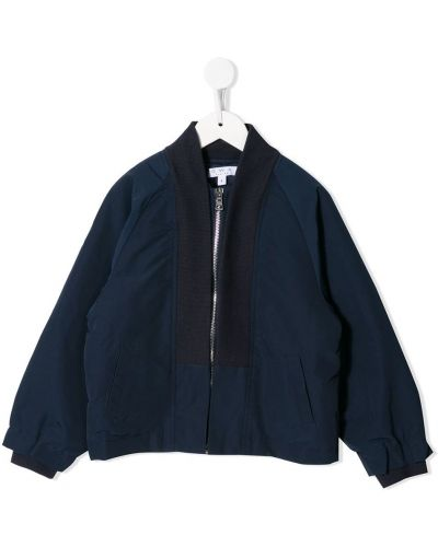 Хлопковая с рукавами темно-синяя куртка с карманами Owa Yurika