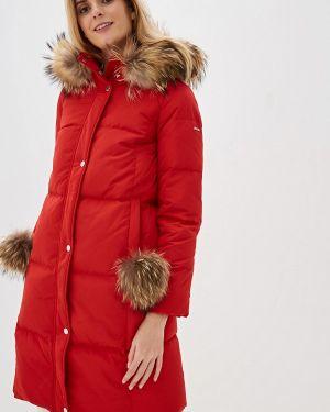 Зимняя куртка осенняя красная Baon