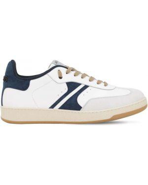 Białe sneakersy skorzane sznurowane Am318