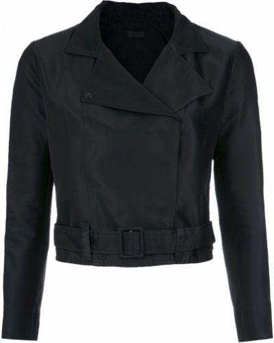 Черная длинная куртка Osklen