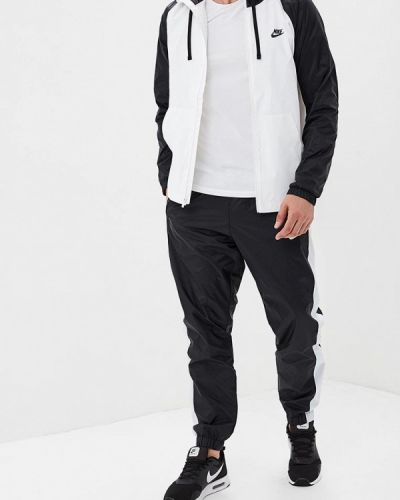 Спортивный костюм белый черный Nike