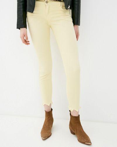 Желтые зауженные брюки Colcci