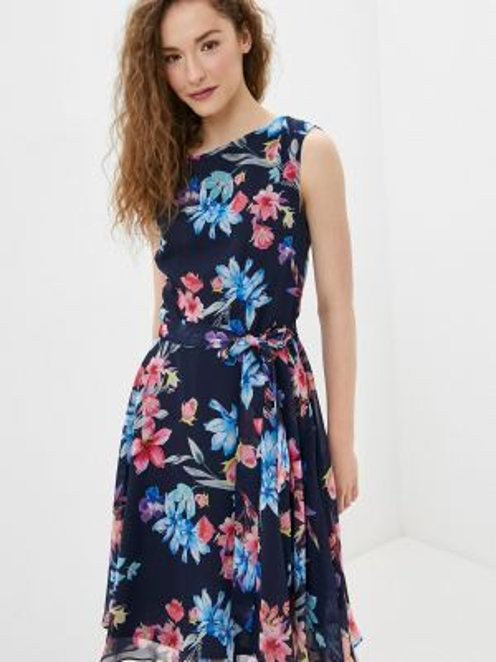 Повседневное платье синее весеннее Wallis