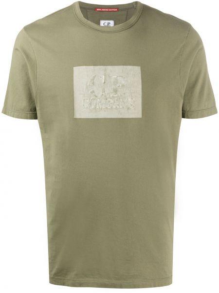 Koszula krótkie z krótkim rękawem z logo prosto C.p. Company
