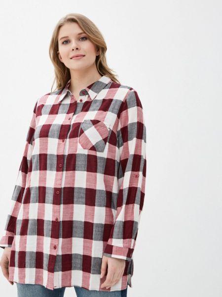 Рубашка с длинным рукавом бордовый красный Ulla Popken