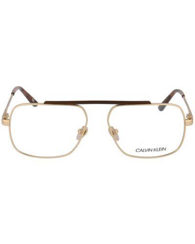 Żółte okulary Calvin Klein