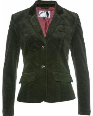 Пиджак вельветовый с заплатками Bonprix