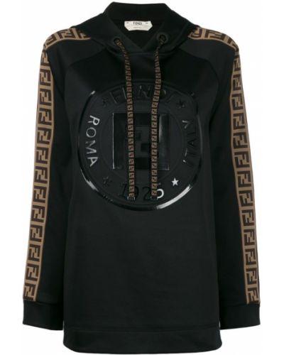 Куртка черная на молнии Fendi