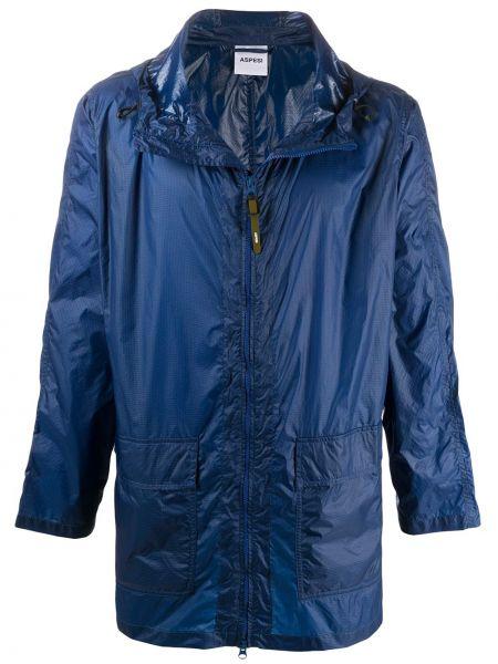 Płaszcz przeciwdeszczowy długo niebieski Aspesi
