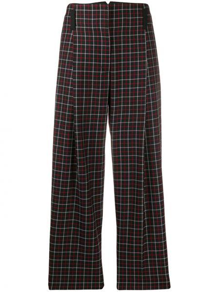Шерстяные прямые черные брюки Paul Smith