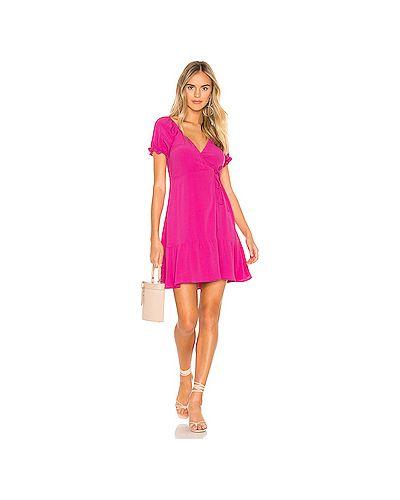 Платье мини розовое шелковое Flynn Skye