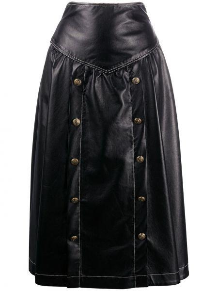 Расклешенная черная юбка с карманами Philosophy Di Lorenzo Serafini