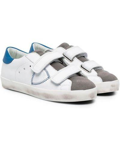 Кожаные белые кроссовки Philippe Model Kids