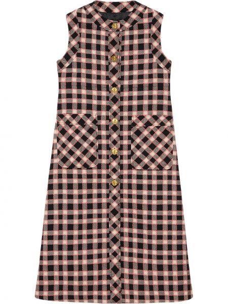 Черная свободная жилетка с карманами на пуговицах Gucci