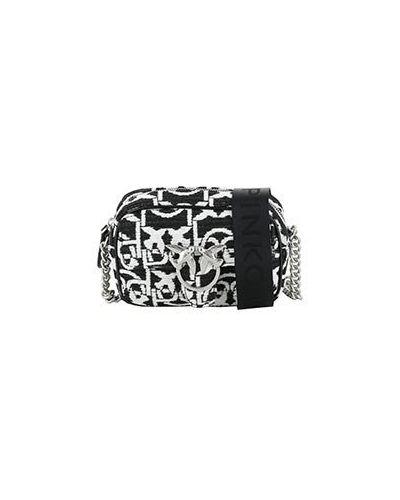 Текстильная черная сумка Pinko