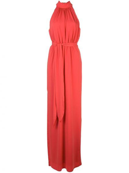 Приталенное плиссированное платье на молнии без рукавов Halston Heritage
