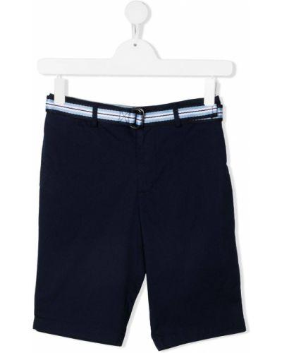Niebieskie szorty w paski z paskiem Polo Ralph Lauren
