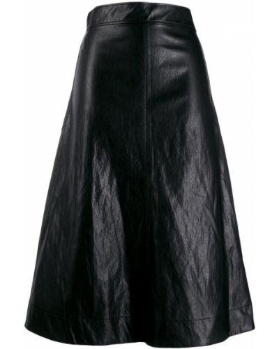 Юбка миди с поясом черная Cedric Charlier