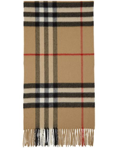 Кашемировый черный шарф прямоугольный Burberry