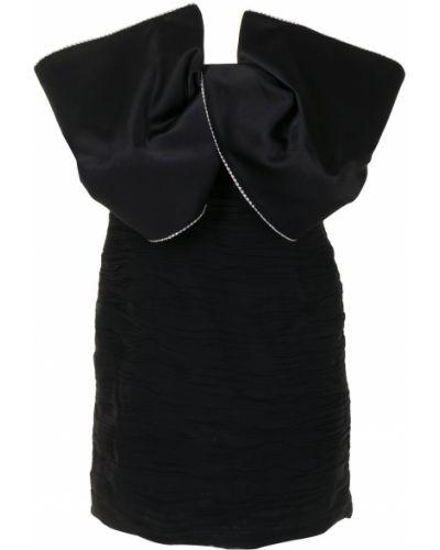 Шерстяное прямое черное платье Magda Butrym