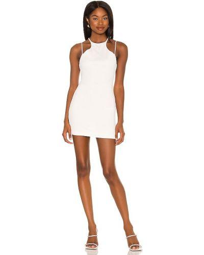 Трикотажное платье мини - белое H:ours