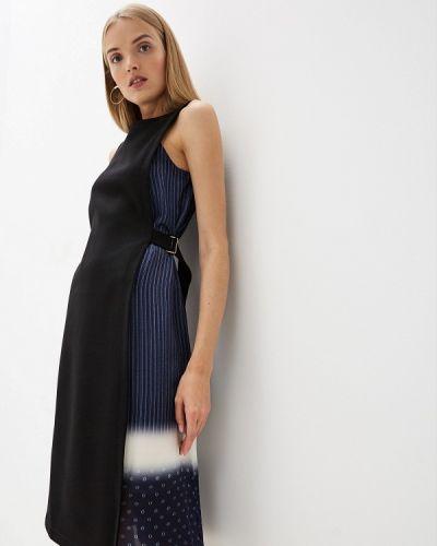 Повседневное платье осеннее синее Tory Burch