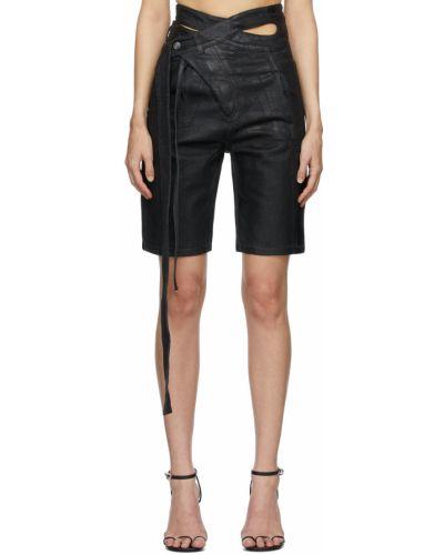 Черные джинсовые шорты Ottolinger
