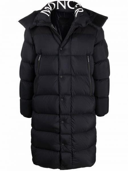 Płaszcz puchowy z kapturem - czarny Moncler