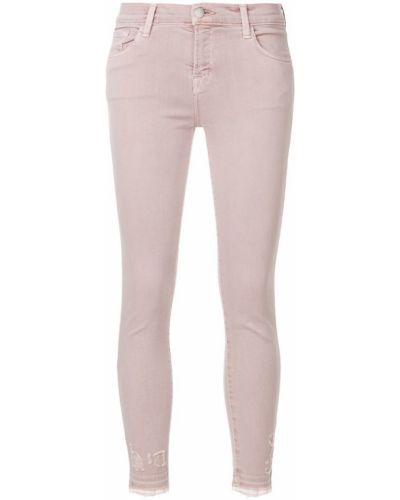 Джинсы-скинни розовый J Brand