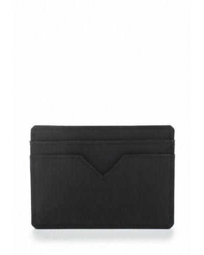 Черный кожаный кошелек Topman