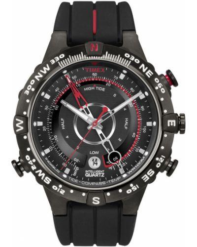 Czarny zegarek kwarcowy z paskiem Timex