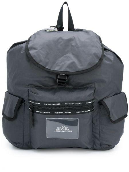 Nylon z paskiem plecak na paskach z łatami Marc Jacobs