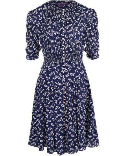 Платье приталенное шелковое Ralph Lauren