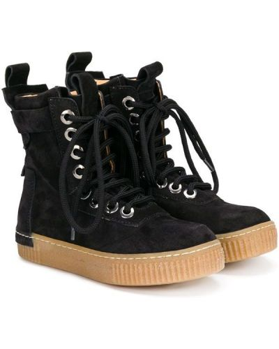 Ботинки замшевые черные Cinzia Araia Kids