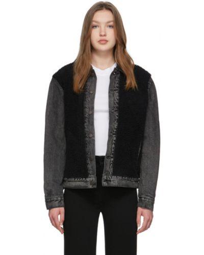 Сатиновая прямая черная джинсовая куртка на пуговицах Levi's®
