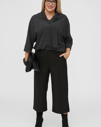 С рукавами блузка с воротником из вискозы Luxury