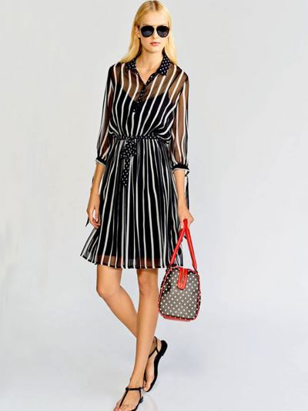 Шелковое платье - черное Anna Rachele